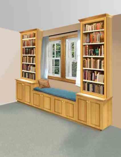 bookshelf window seat build a book nook and window seat diy earth news