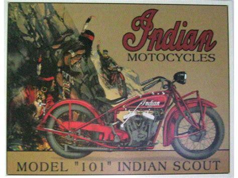 Indian Motorräder Ersatzteile by Motorrad Indian Scout Blechschild 32x41cm Fahrzeuge