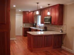 magnificent cherry mahogany cabinets with white