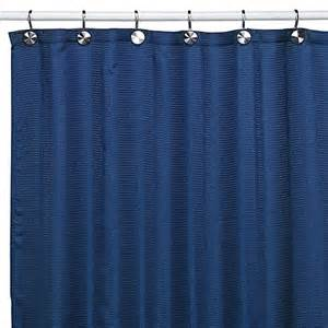 westerly royal blue fabric shower curtain bed bath beyond