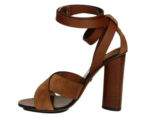 sandal high heels gucci suede and leather high heel sandals