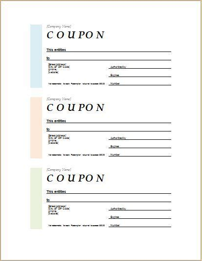 Coupon Template For Ms Word Download At Http Worddox Org How To Make Coupon With Sle Coupon Microsoft Coupon Template