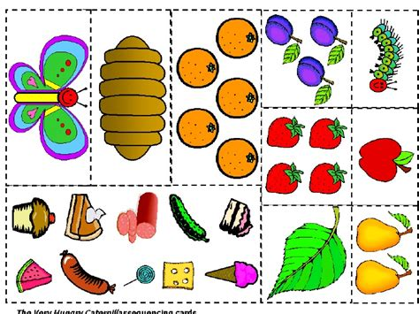Very Hungry Caterpillar Sequencing Printable Quotes The Hungry Caterpillar Fruit Coloring Pages
