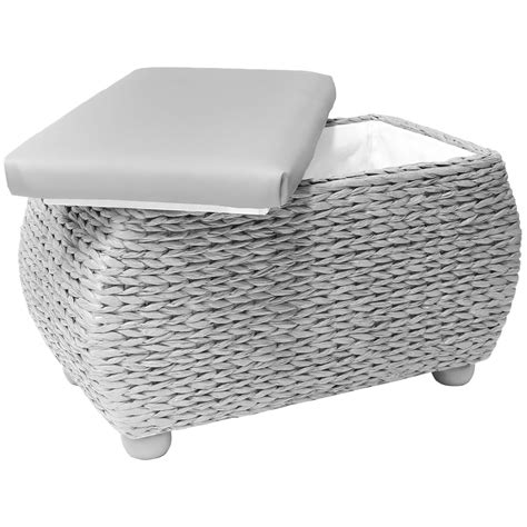 trunk bench seat hartleys twin storage trunk stool bedding blanket rattan wicker box bench seat