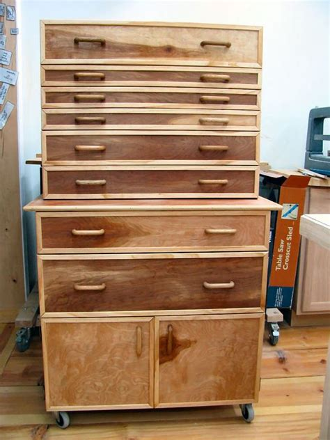 built  tool cabinet   shop wood tool box