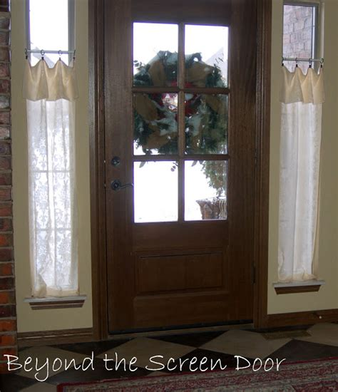Glass Front Door Window Coverings New Entry Window Treatments Sonya Hamilton Designs