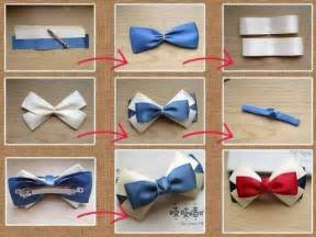 how to make pretty bow tie hair pin step by step diy