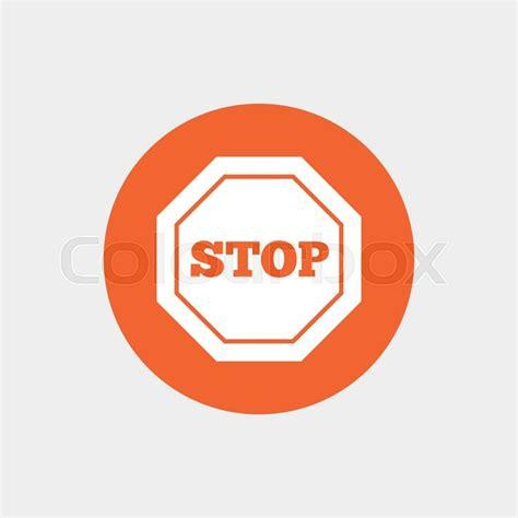 traffic stop sign icon caution symbol orange circle