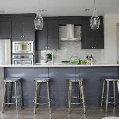 this inviting kitchen features flat front white cabinets modern gray kitchen features dark gray flat front cabinets