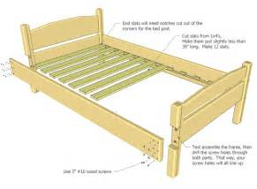 Wood Bed Frame Assembly Size Bed Plan