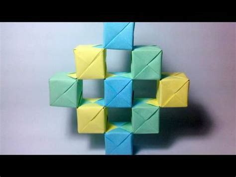Moving Cubes Origami - origami moving cubes using sonobe units
