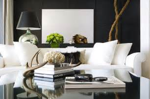 White Sofa Living Room Decorating Ideas Decorative Antlers Contemporary Living Room