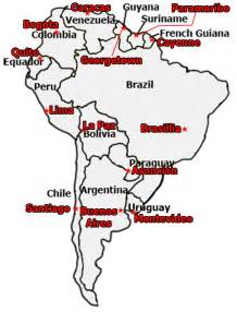 south america map and capitals quiz geography rcis3t