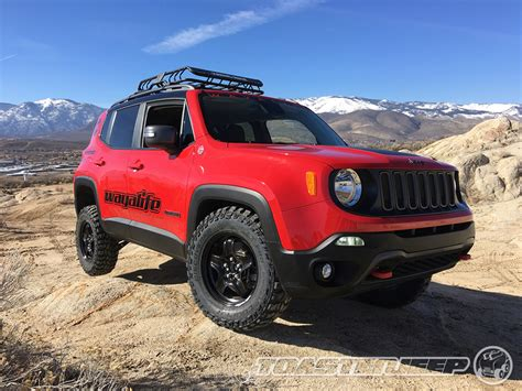 new jeep renegade lifted renegade on the rocks another test of our daystar lift
