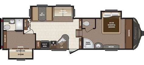 sprinter fifth wheel floor plans new 2017 keystone sprinter 293fwbhs fifth wheel for sale
