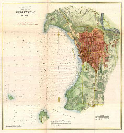 burlington vt map burlington geographic