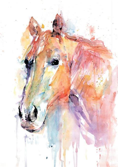 Watercolor Horse Tutorial | original horse watercolor art print watercolor print