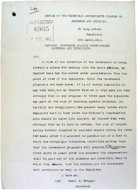 National Insurance Letter K the national archives education britain 1906 18