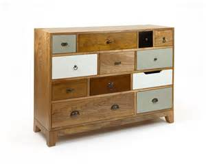 vintage inspired chest of drawers multicoloured wooden
