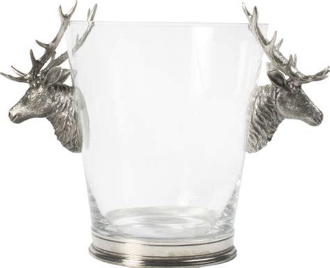 Vagabond Home Decor by Vagabond House Ice Bucket Glass Deer Head
