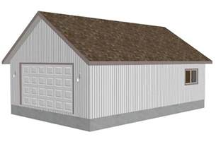 Garageplans G407 Plans Grunke 8002 70 24 X 36 X 9 Detached