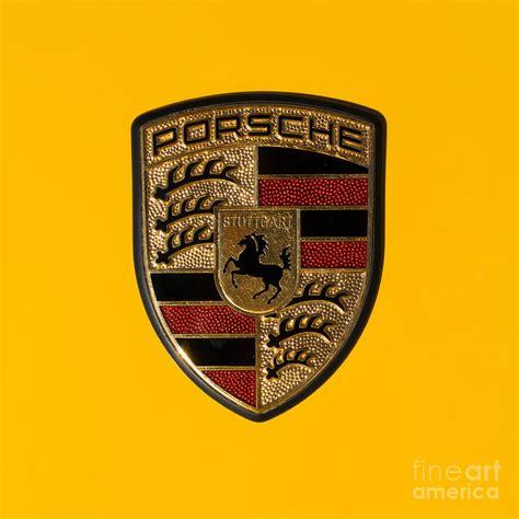 porsche usa emblem porsche emblem dsc2484 square photograph by wingsdomain