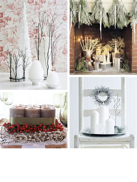 christmas home decorations pictures 25 cool christmas candles decoration ideas digsdigs