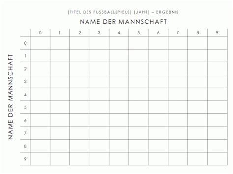 Tabellen Vorlagen Muster word vorlage tabelle f 252 r fussballergebnisse