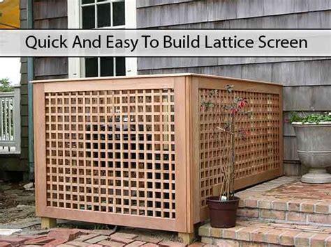 quick  easy  build lattice screen httpwww