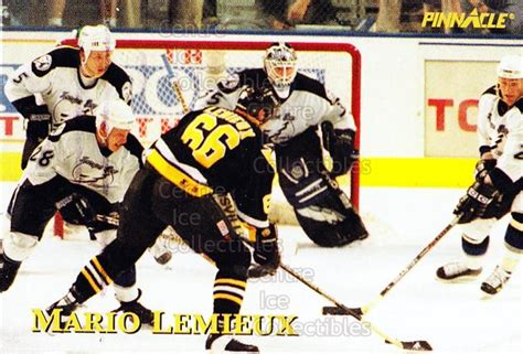 Hockey Giant Gift Card - center ice collectibles 1997 pinnacle giant eagle mario lemieux moments hockey cards