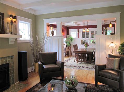 living room craftsman living room seattle  tim