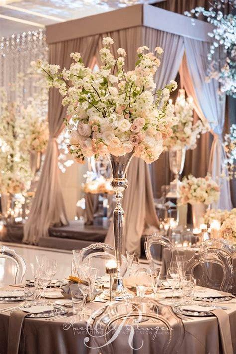 blush wedding reception ballroom wedding reception