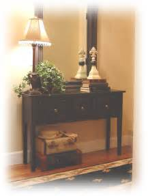 Entry Table Ideas by Notes From A Cottage Industry New Old Entry Table