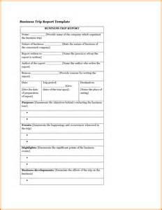 Business Trip Report Template Word 6 Business Trip Report Template Appeal Letters Sample