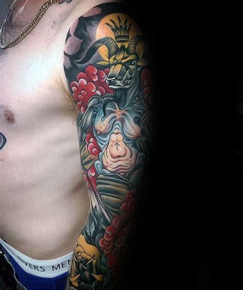 tattoo inspiration male sleeve 50 baphomet tattoo designs for men dark ink ideas