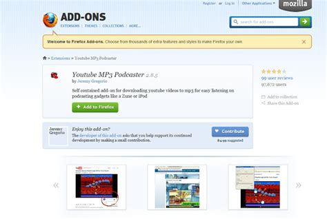download mp3 youtube firefox add on mozilla firefox youtube mp3 downloader addon