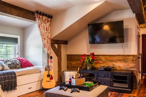 Entertainment Center For Bedroom by Tour This Playful And Functional Barn Style Room