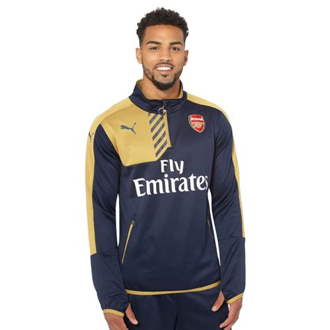 Arsenal Quarter Zip | puma arsenal sponsor quarter zip training top ebay