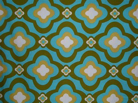 printable cotton fabric remnantmod cotton print fabric in aqua and avocado3 4 yard