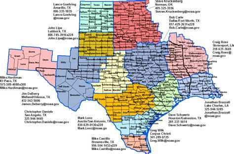 east texas map of cities texas stormready contacts