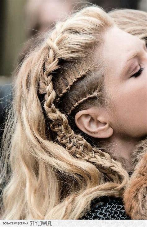 easy hairstyles  long thick hair hair hair styles lagertha hair viking hair