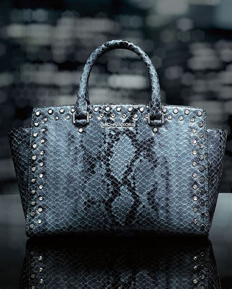 Gustto Cala Snakeskin Print Satchel by Lyst Michael Michael Kors Large Selma Snakeprint Satchel