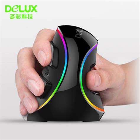Mouse Wireless Deluxe aliexpress buy delux m618 plus computer rgb wired vertical mouse ergonomic usb 4000 dpi