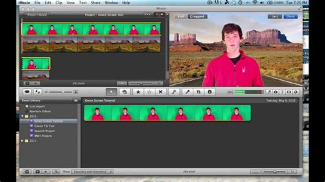 tutorial on imovie imovie green screen tutorial youtube
