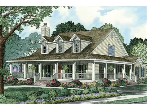 country homes farmhouse plans with wrap around porches