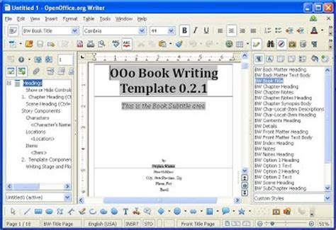 open office templates for books open office writers
