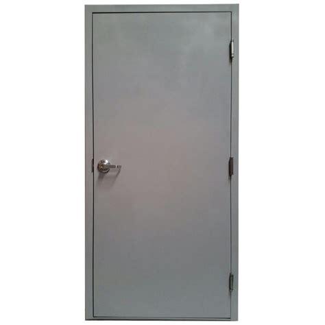 Prehung Interior Doors Home Depot armor door 36 in x 84 in fire rated gray left hand flush