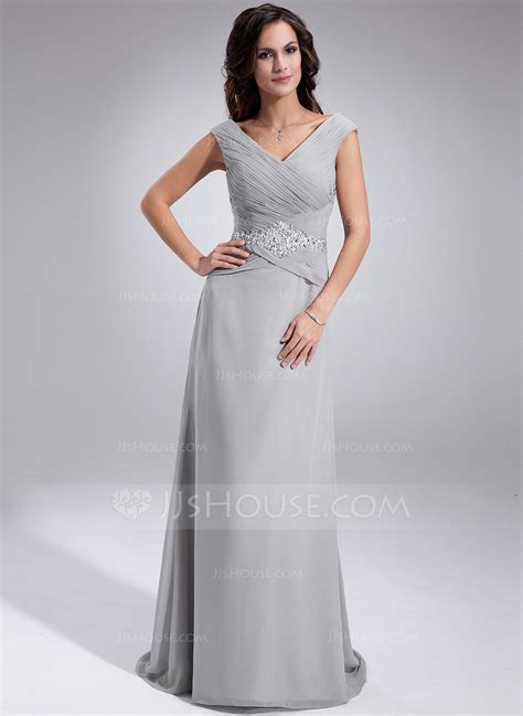 845 Line Dress a line princess the shoulder sweep chiffon of the dress with ruffle
