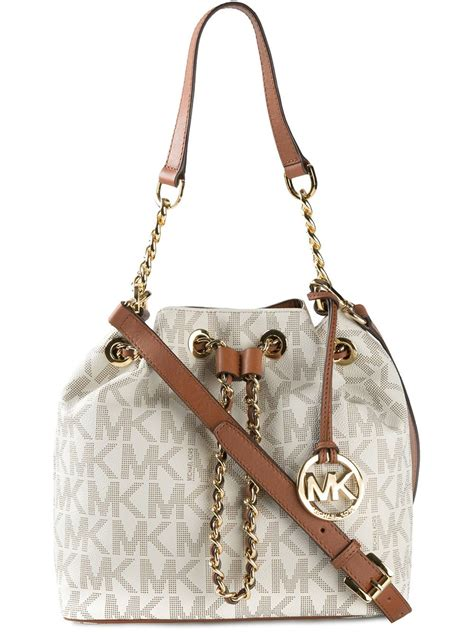 michael michael kors signature monogram shoulder bag