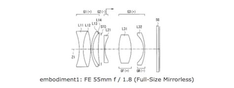 Sony Mirrorless A7 Fe 50mm F 1 8 sony patent for fe 50mm f 1 8 lens for frame